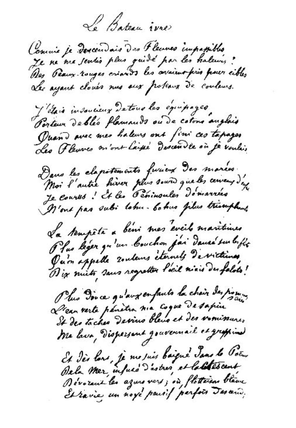 Rimbaud Le Touchant Patte De Mouette Blog De Griffomane